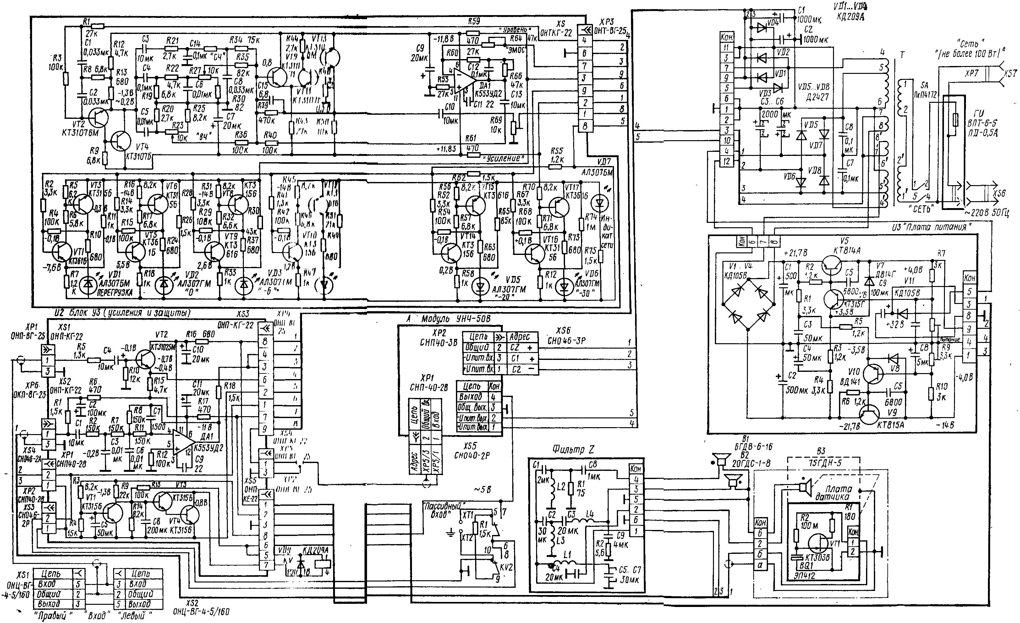 Схема колонок радиотехника