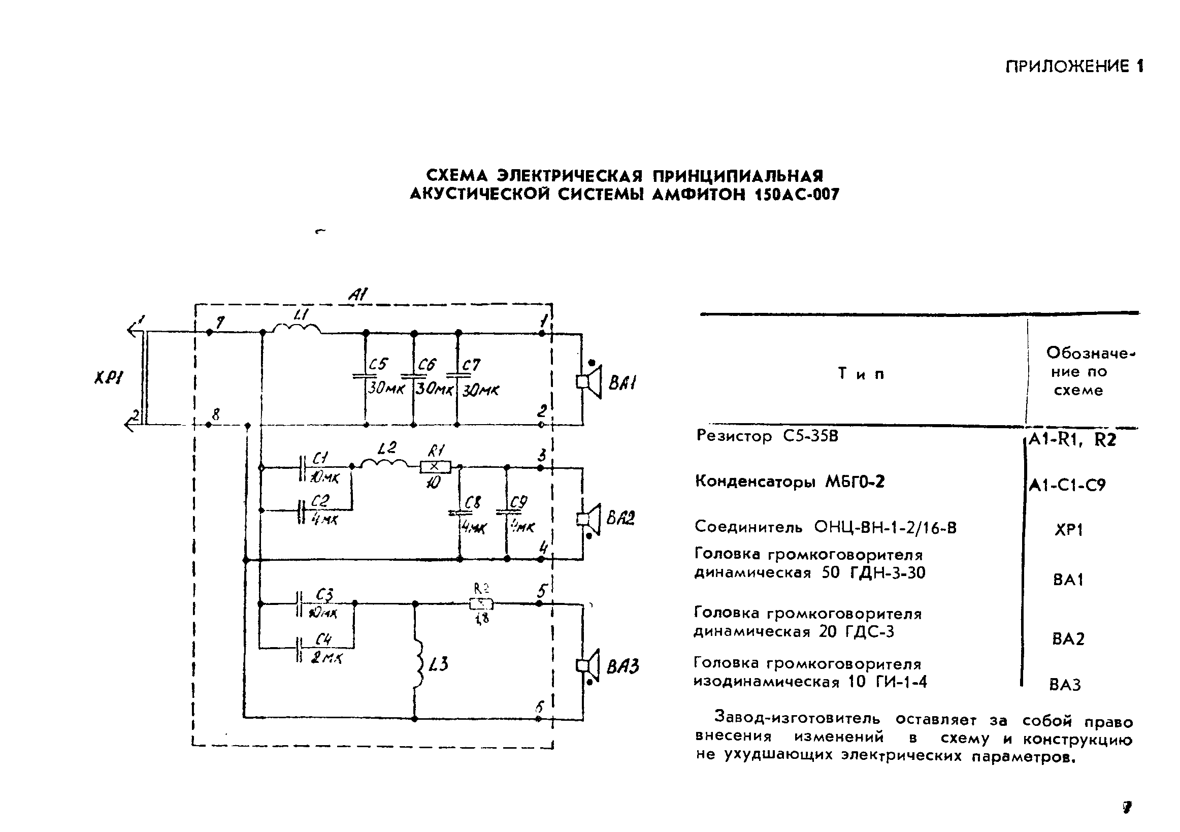 Колонки 150ас-007 лорта схема
