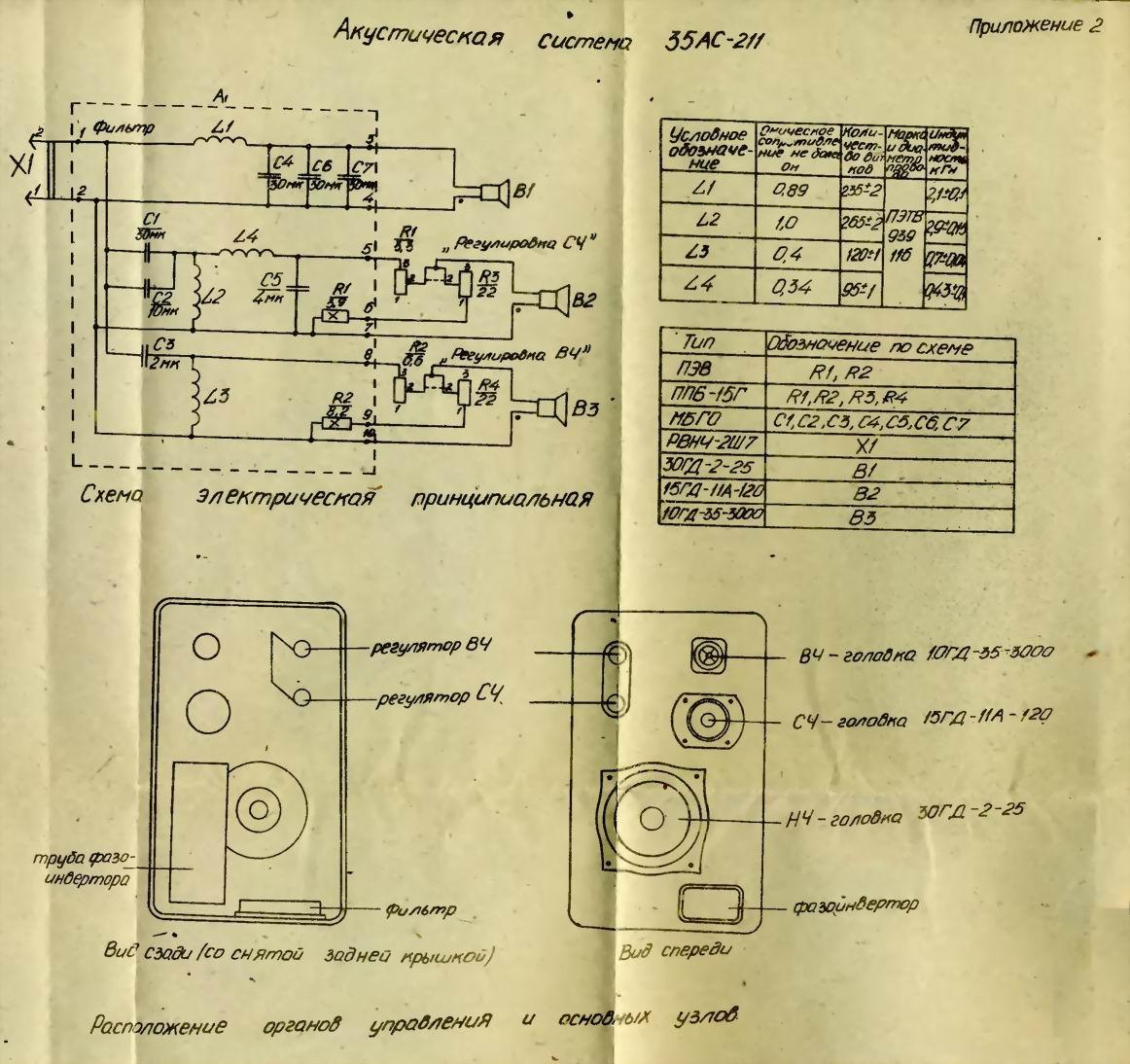 Схема фильтра кливер 100ас-002-1